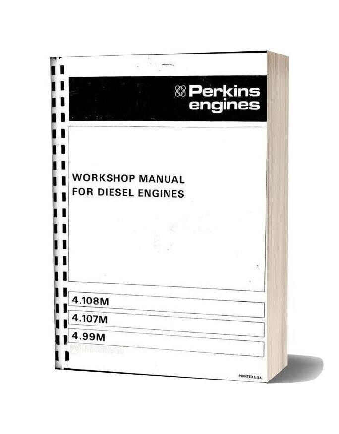 Perkins 4 108m Workshop Manual