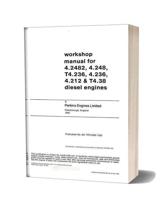Perkins 4 236 2183 Workshop Manual