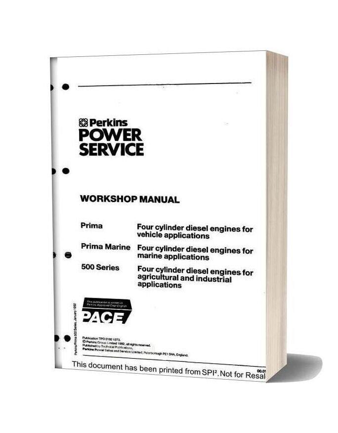 Perkins 500 Series Prima Workshop Manual