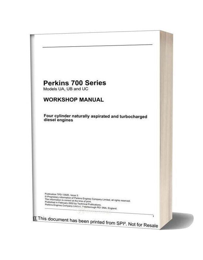 Perkins 700 Series Workshop Manual