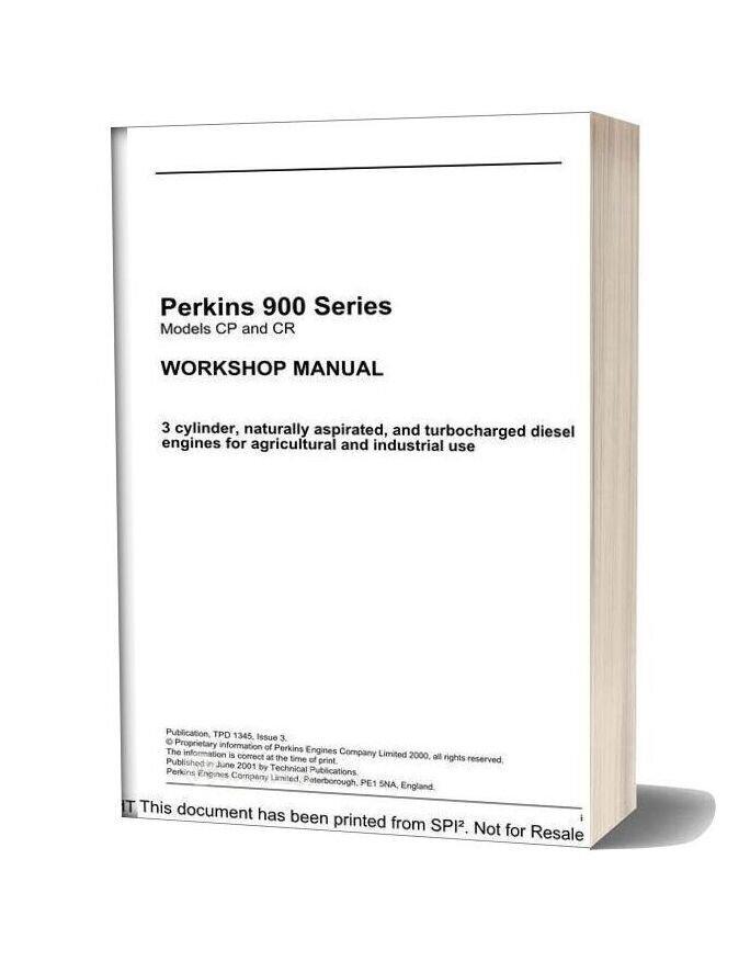 Perkins 900 Series Workshop Manual