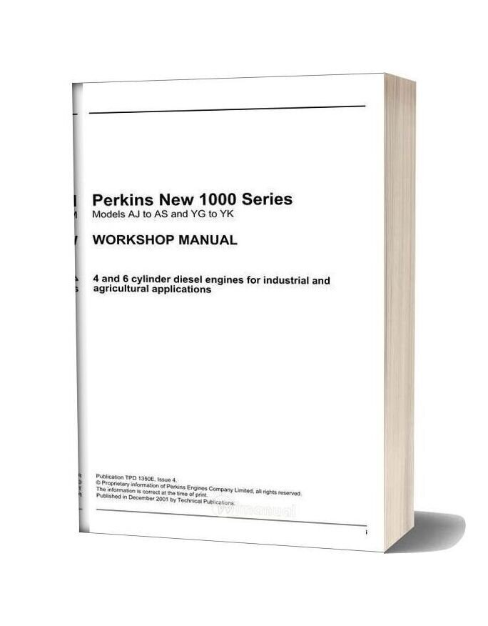 Perkins New 1000 Series Aj Yk Model Workshop Manualc