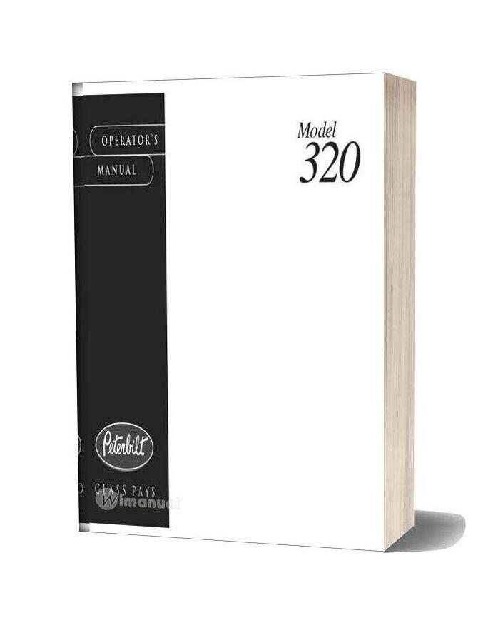 Peterbilt Model 320 Operators Manual Supplementalmanuals