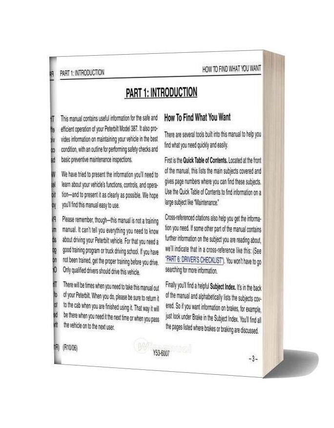 Peterbilt Model 387 Operators Manual After 1 07 Supplementalmanuals
