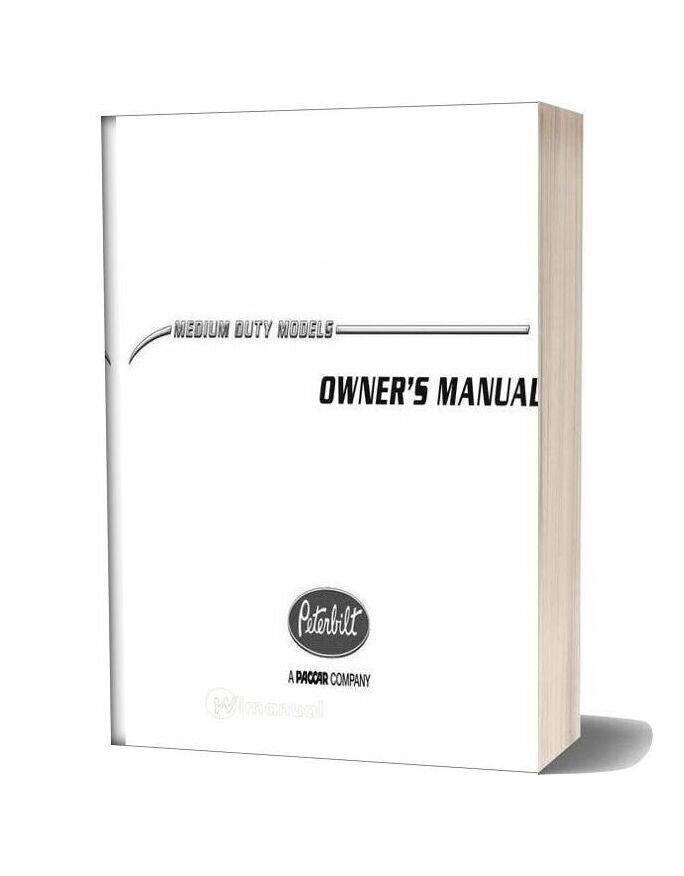 Peterbilt Operator Manuals Medium Duty Manual Pre 2010 (Francais)