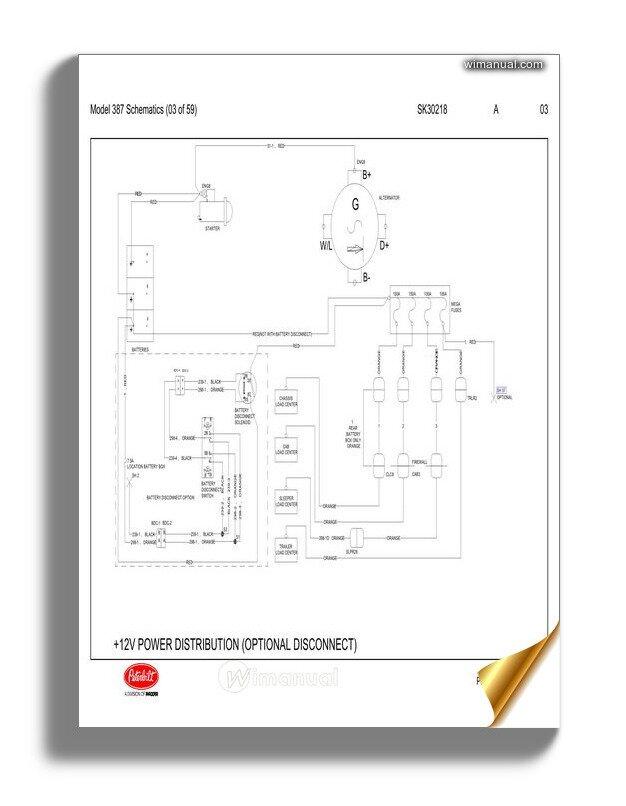 Peterbilt Pb387 Model 387 Schematics Sk30218