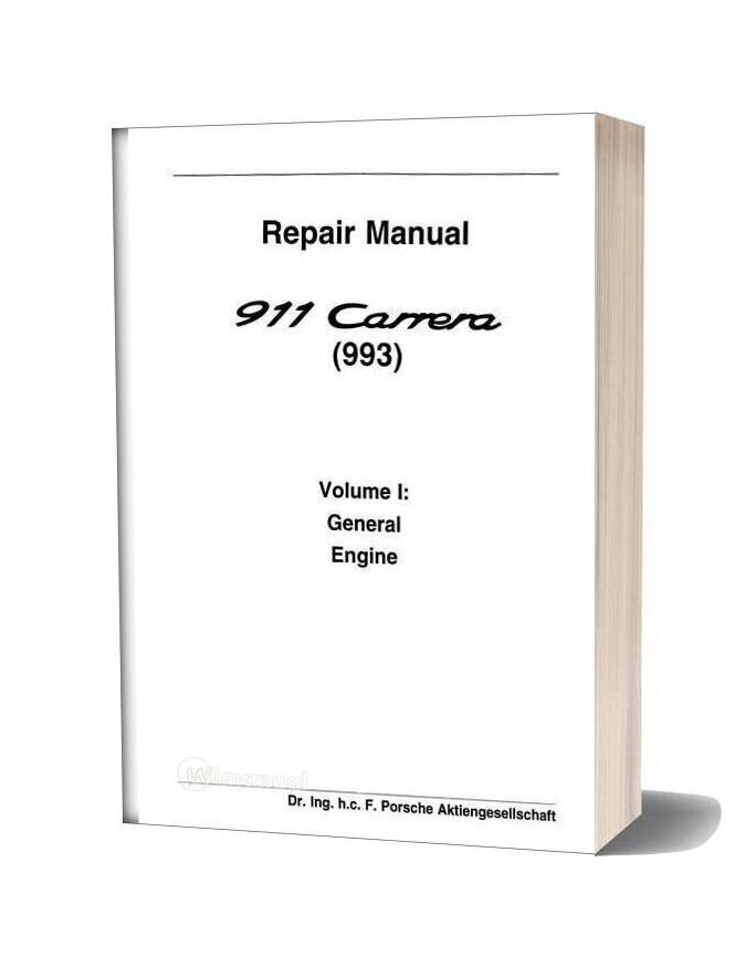 Porsche 993 Workshop Manuals