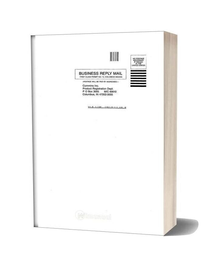 Qsb45 67 Cummins Operation Maintenance Manuals