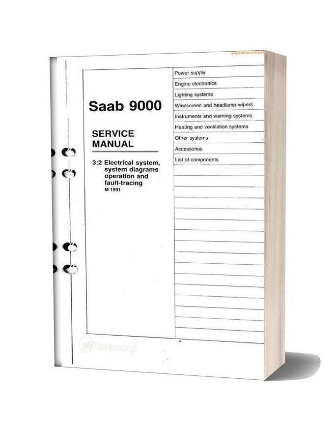 Saab 9000 Service Electrical Faulttracing M1991 Sec Wat