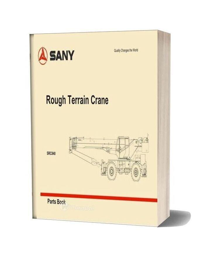 Sany Rough Terrain Crane Src840 Parts Book