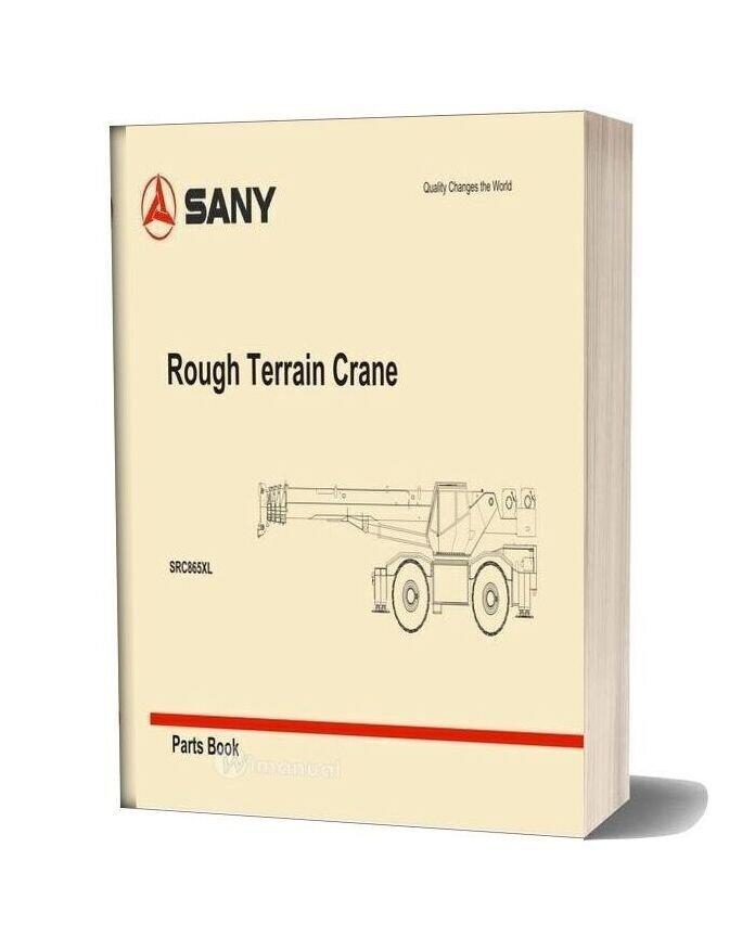 Sany Rough Terrain Crane Src865xl Parts Book