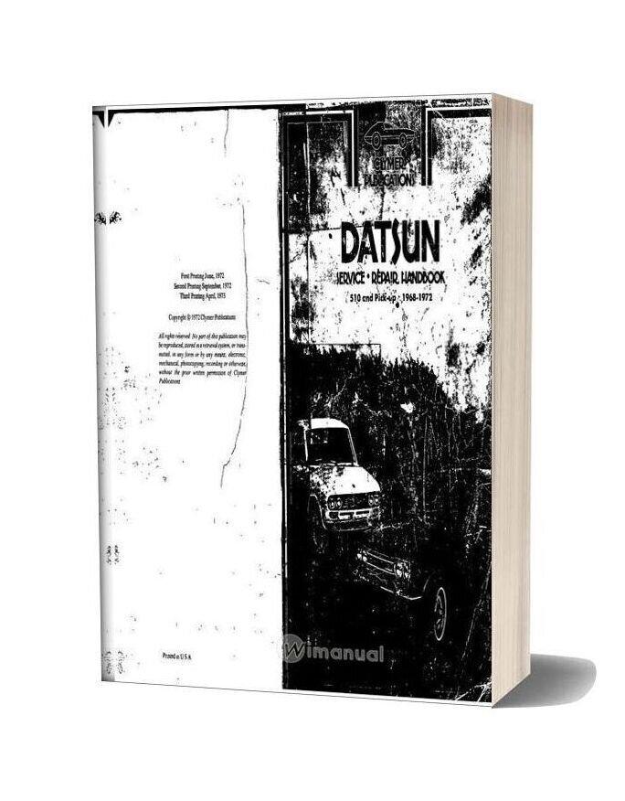 Service Handbook Datsun 510 And Pick Up 1968 72