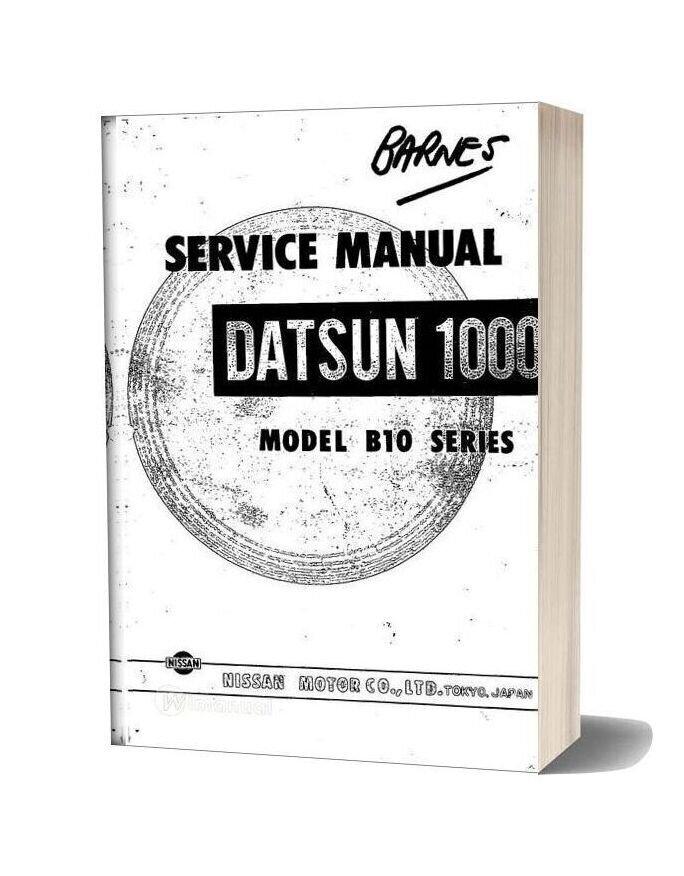 Service Manual Datsun 1000 Model B10 Series
