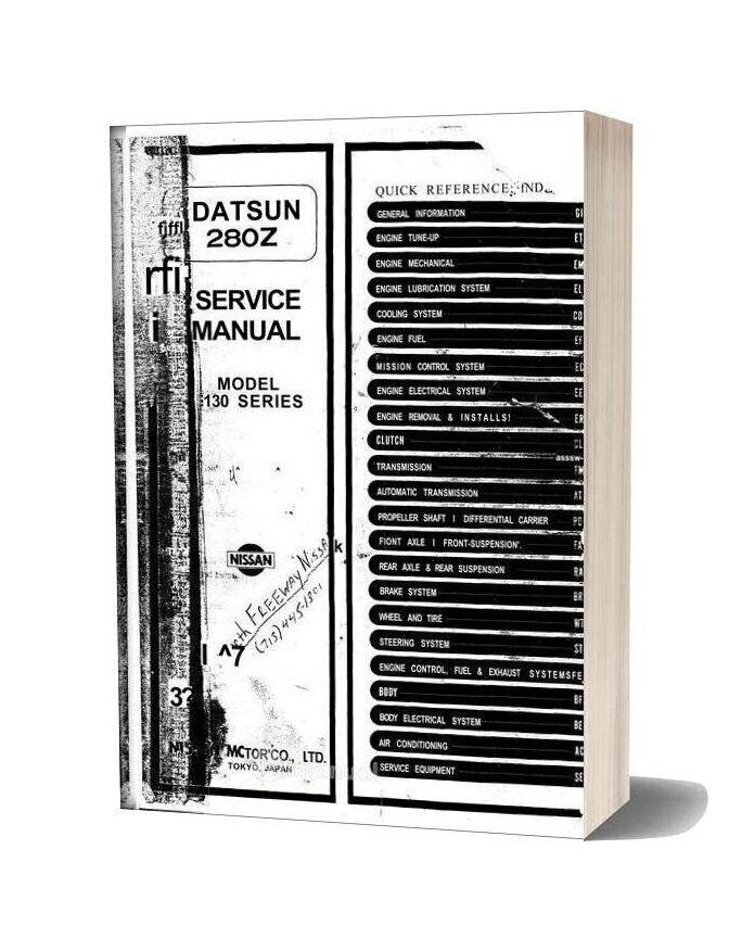 Service Manual Datsun 280z 1975