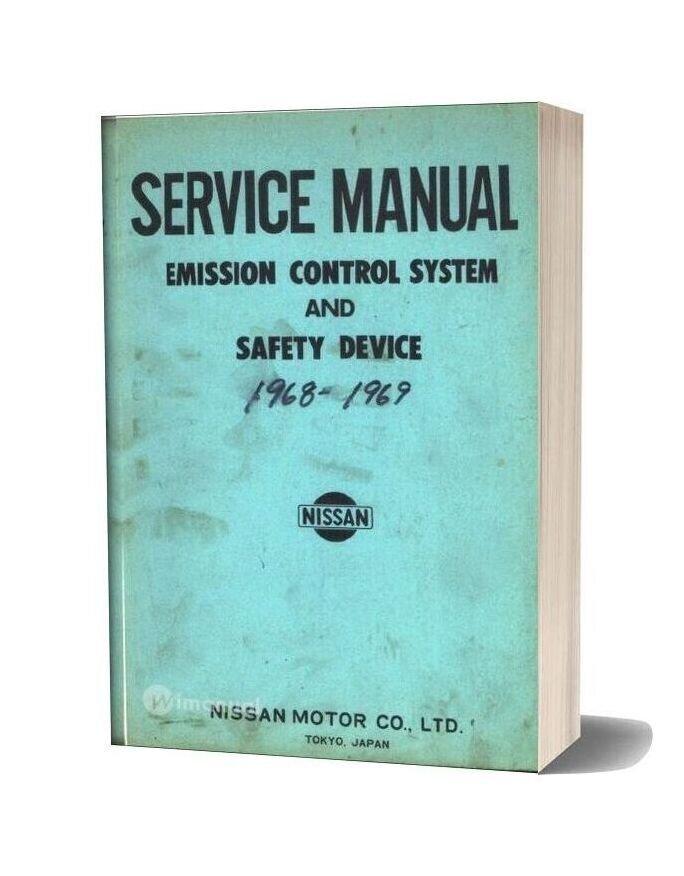 Service Manual Datsun Emission Control Systems 1969