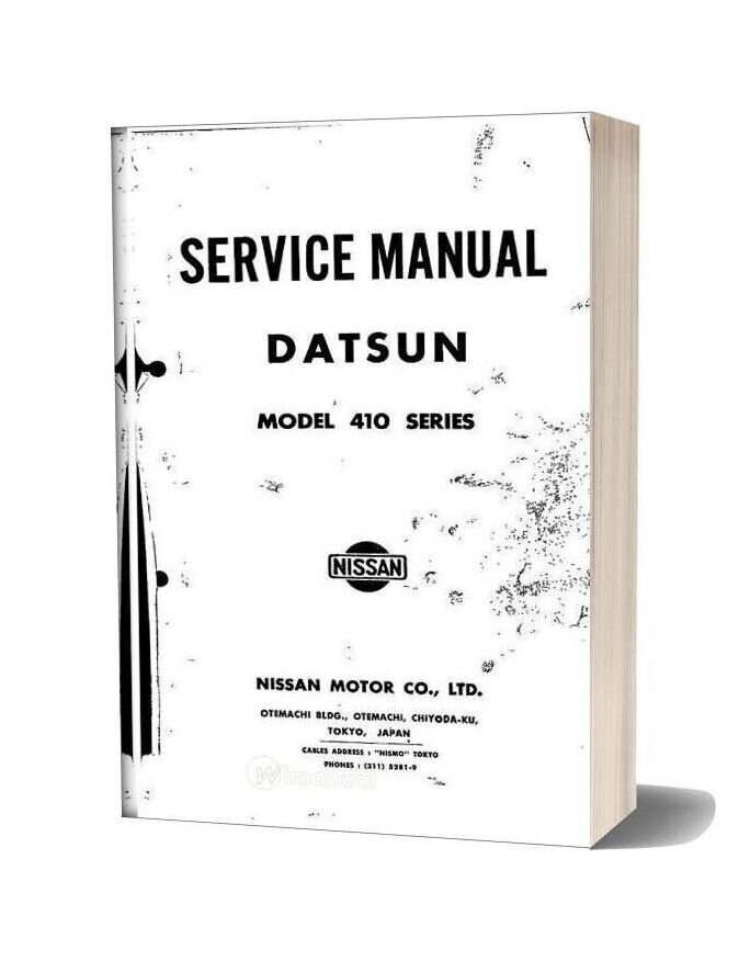 Service Manual Datsun Model 410 Series