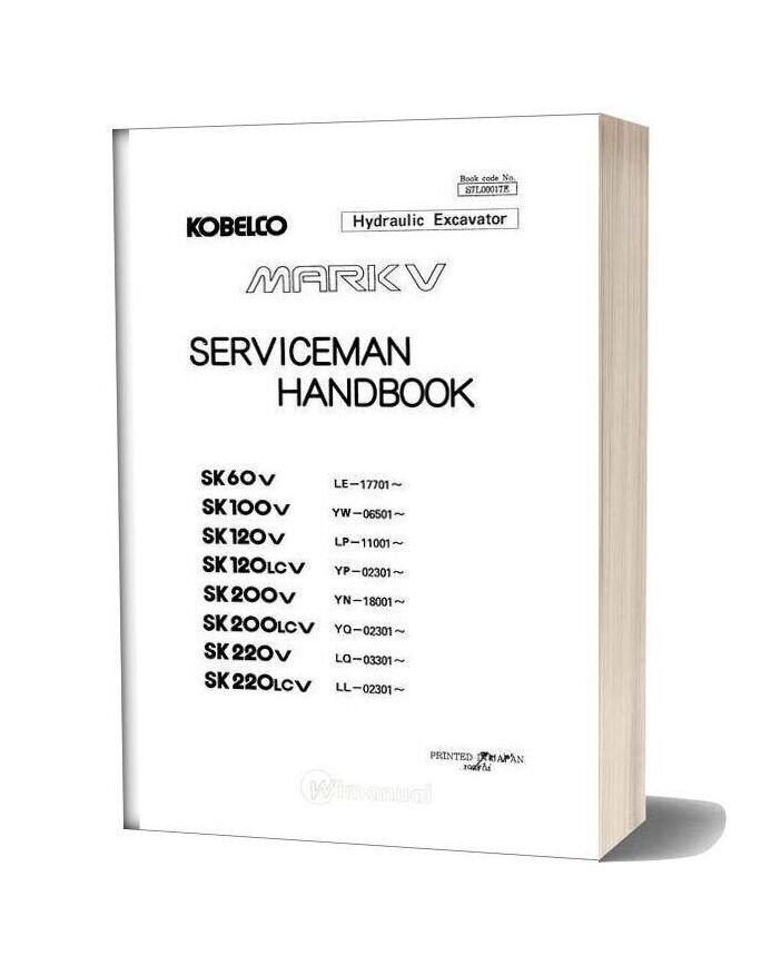 Serviceman Hand Book Sk60 To Sk220 Mark V S7l00017e 1