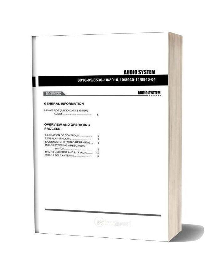 Ssang Yong Korando New Actyon 2010 2013 Audio System 1 Service Repair Manual