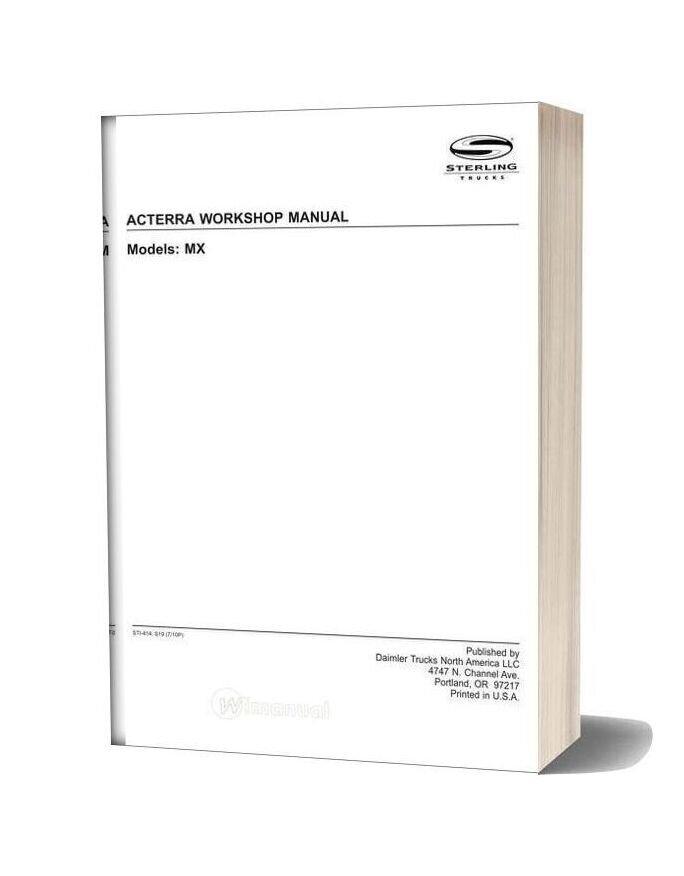 Sterling Acterra Workshop Manual