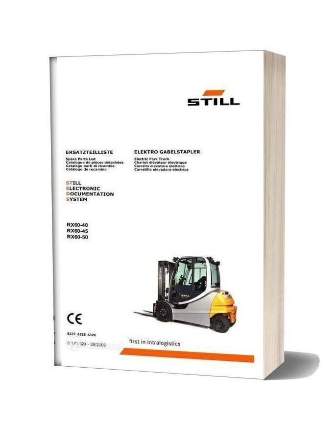 Still Fork Truck Rx60 Parts Catalog