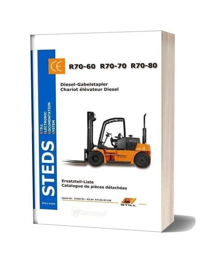 Still Kalmar R70 60 70 80 Spare Parts Book In German