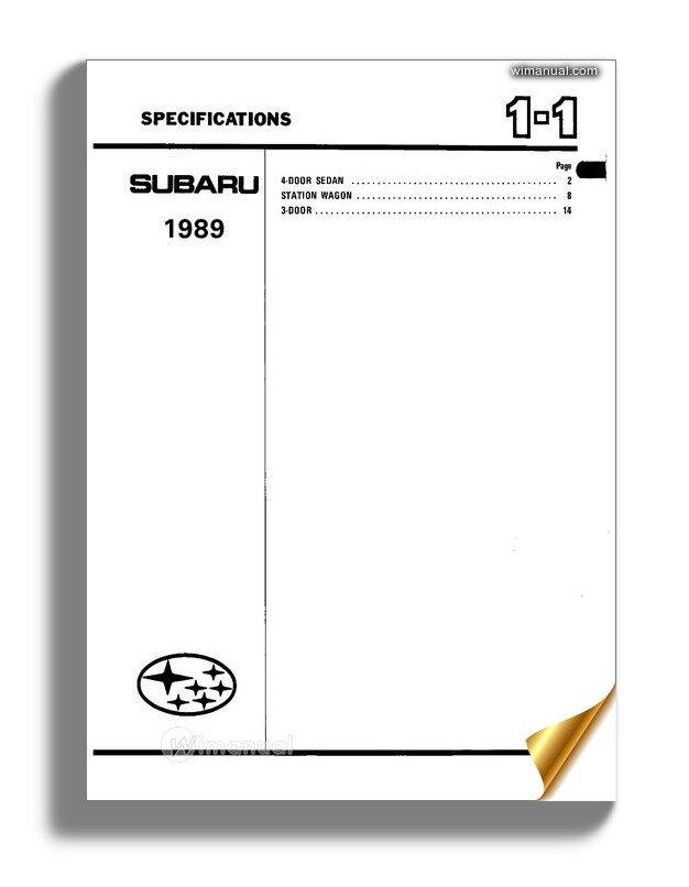 Subaru Ea82 Service Manual Part1