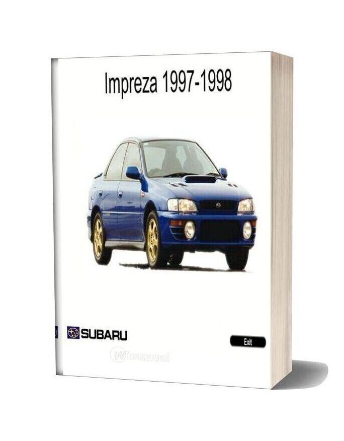 Subaru Impreza My97 98 Service Manual