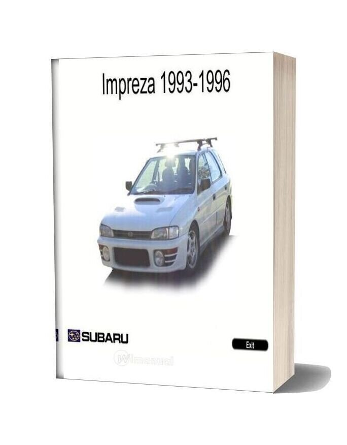 Subaru Impreza Workshop Manual 1993 1996