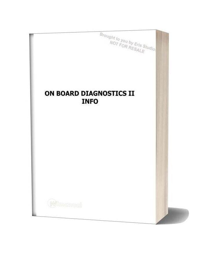 Subaru On Board Diagnostic Ii Info