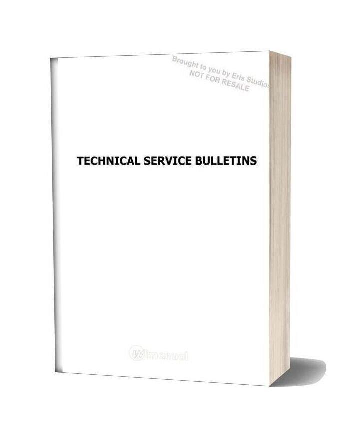 Subaru Technical Service Bulletins