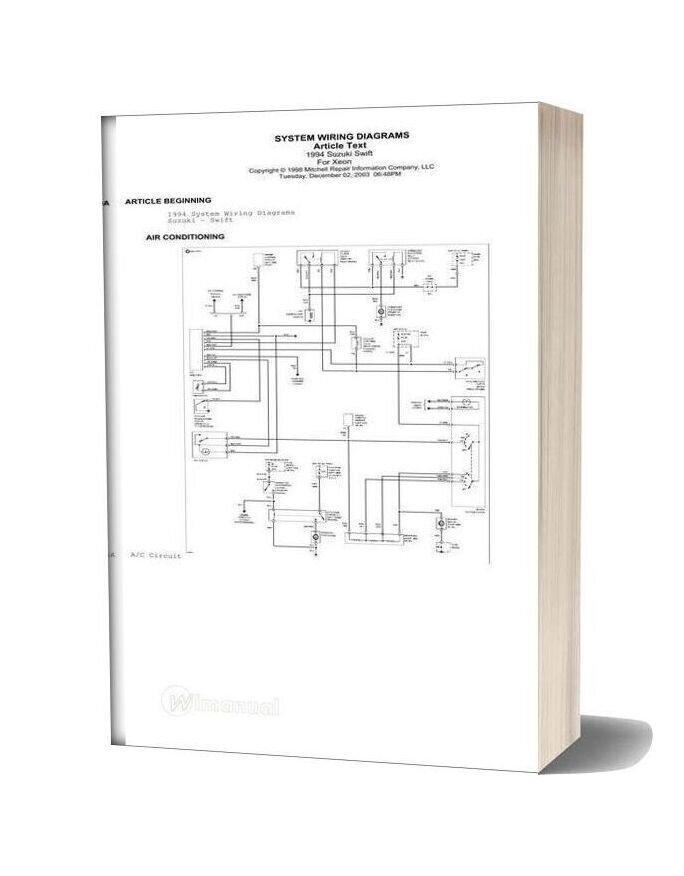 [TVPR_3874]  Suzuki Swift 1994 Wiring Diagrams | System Wiring Diagrams |  | WiManual