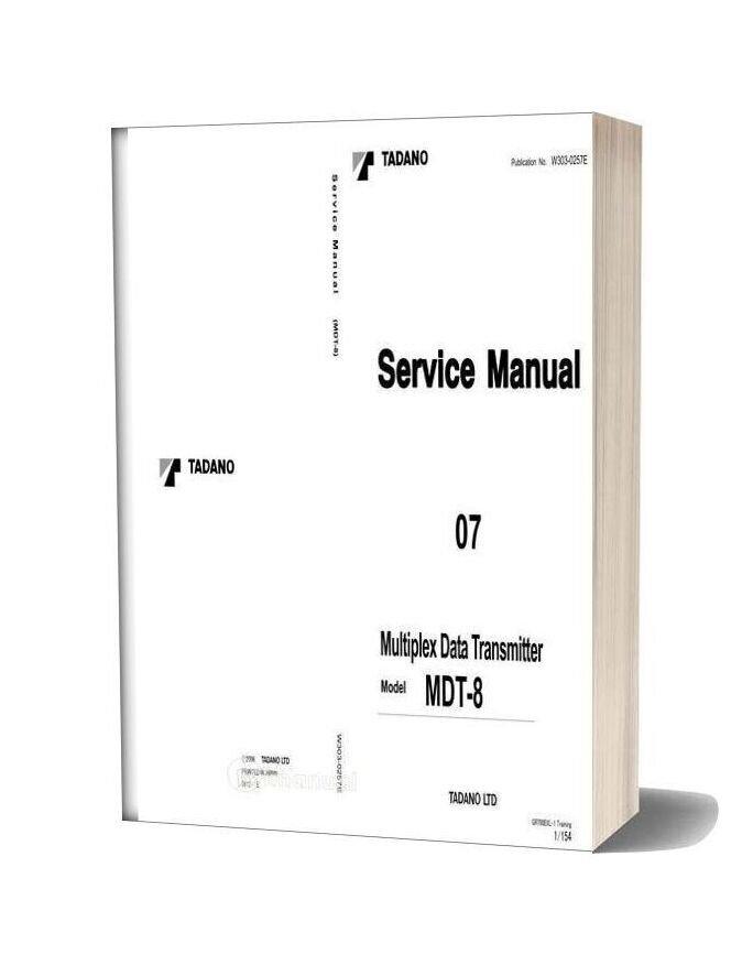Tadano Multiplex Data Transmitter Mdt 8 Service Manual