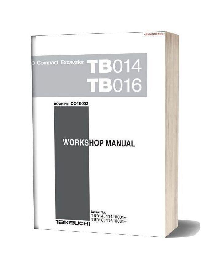 Takeuchi Tb014 Tb016 Workshopmanual Sec Wat 2