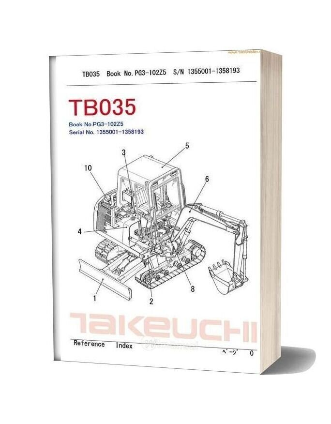 Takeuchi Tb035 Partsmanual Sec Wat