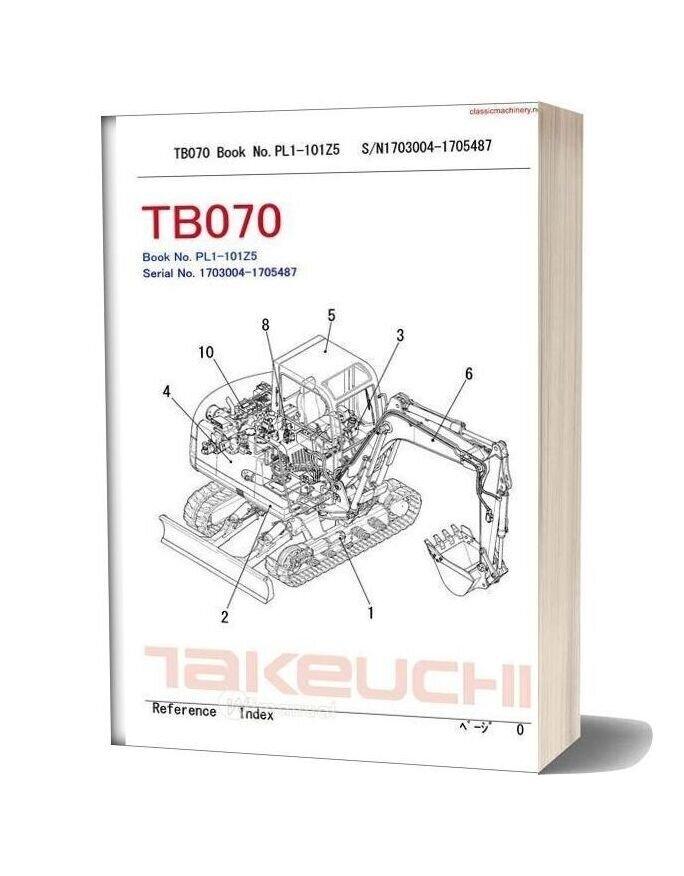 Takeuchi Tb070 Undercarriage Spare Parts