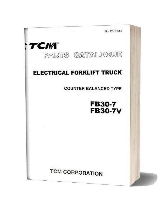 Tcm Forklift Truck Fb30 7 V 09 2003 Parts Catalog
