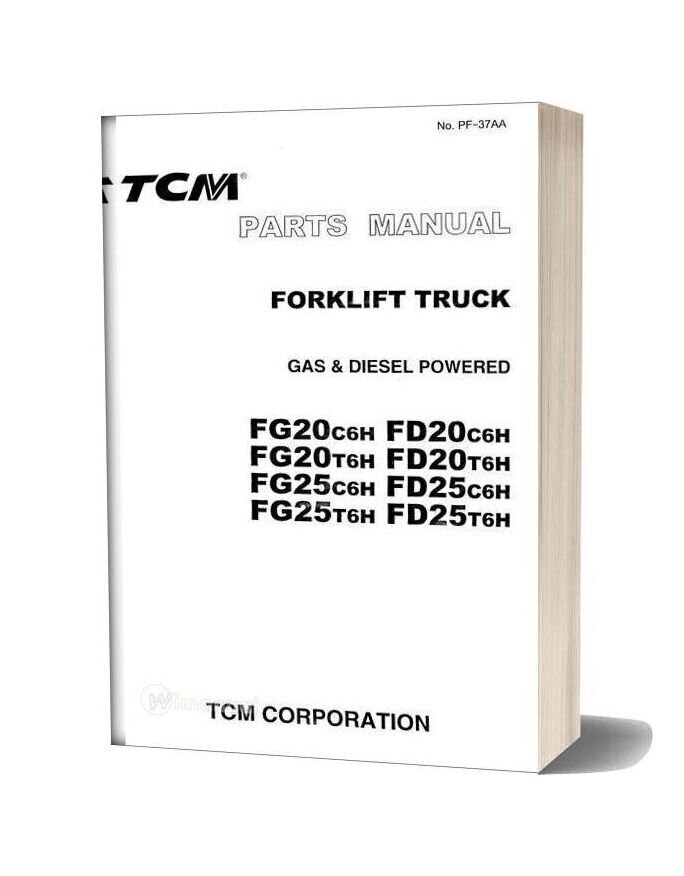 Tcm Forklift Truck Pg20c6h Pd20c6h Parts Manual