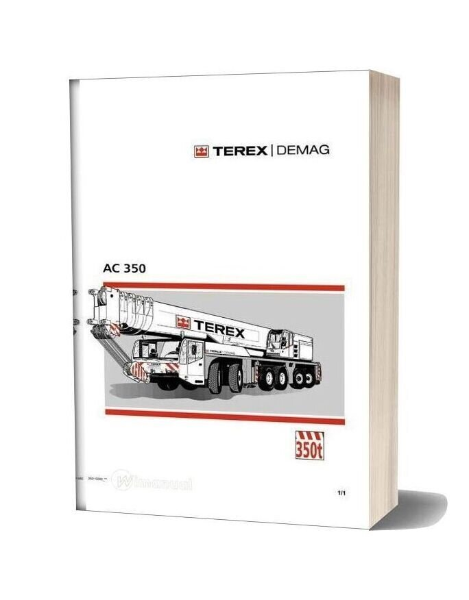 Terex Demag Ac 350 Operation And Maintenance Manual