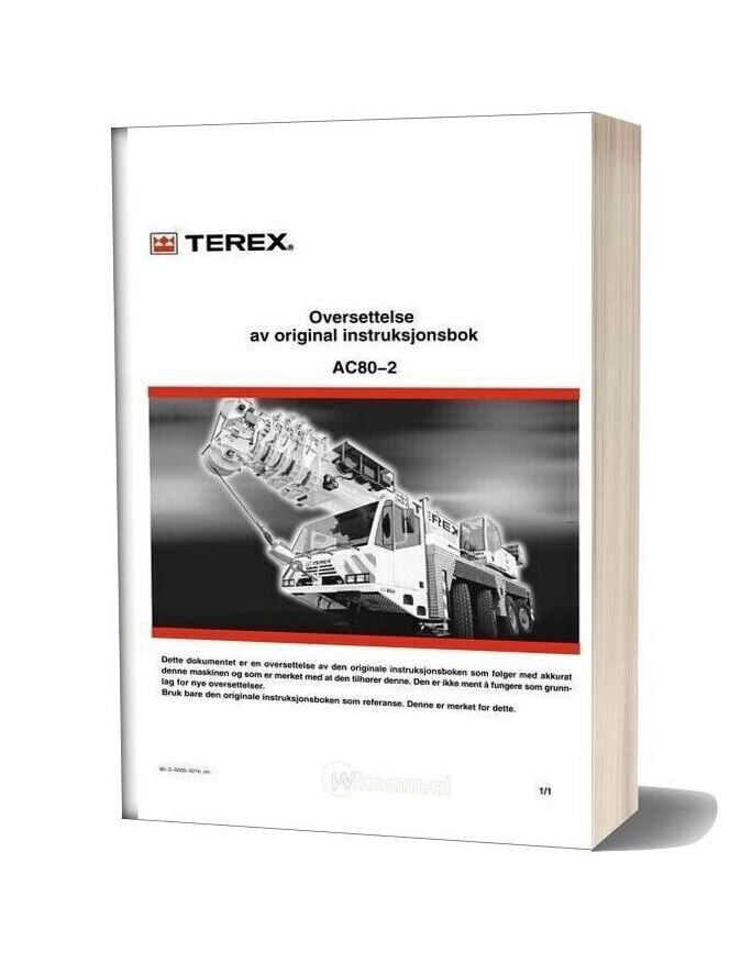 Terex Demag Ac 80 2 Operation And Maintenance Manual