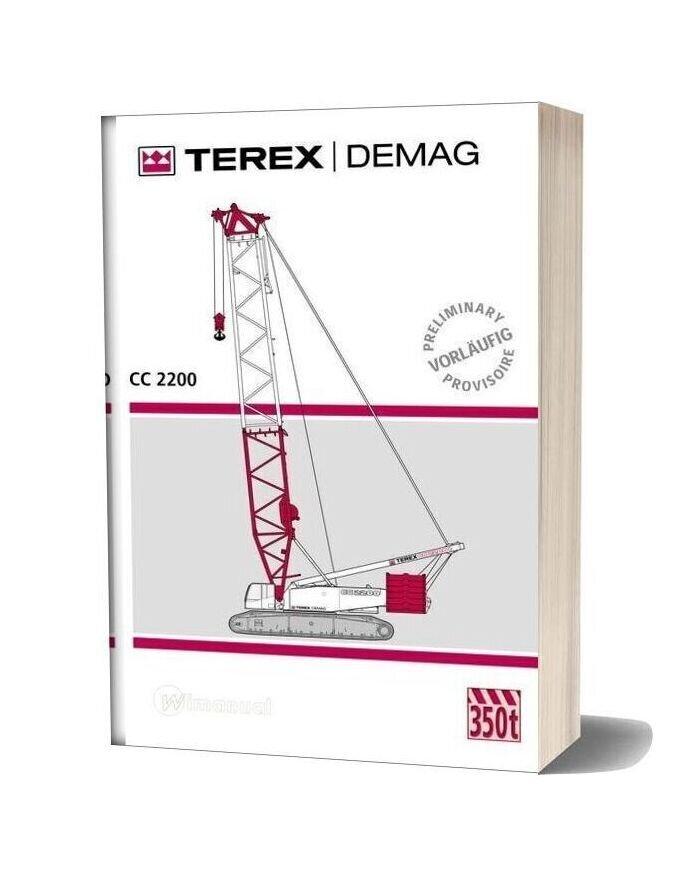 Terex Demag Cc2200 350t Catalogue