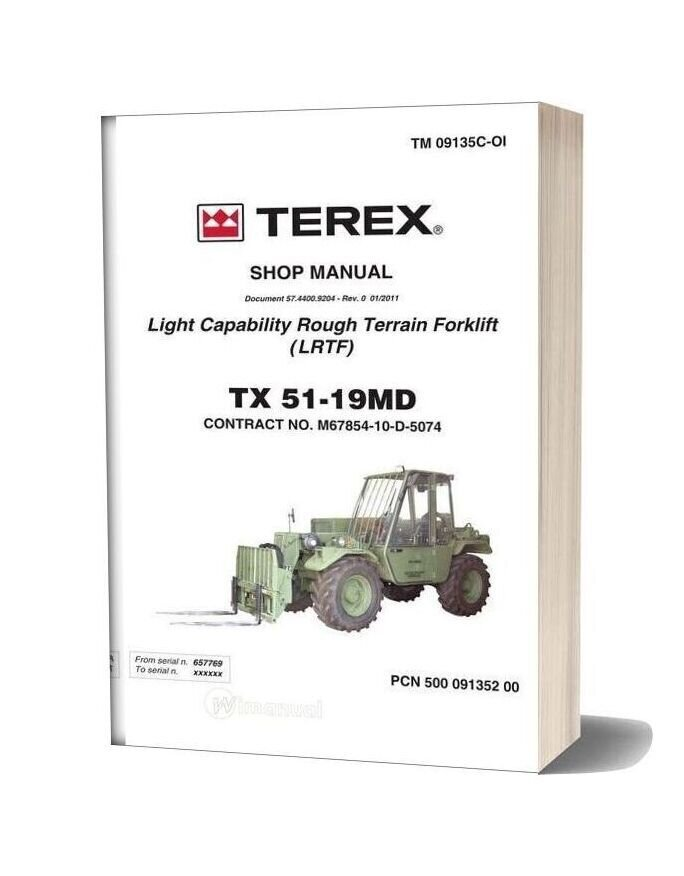 Terex Forklift Tx51 19md Service Manual
