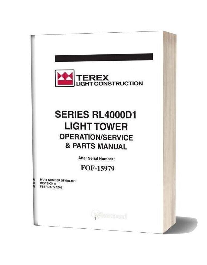 Terex Genie Rl4000 Operation Manual D1