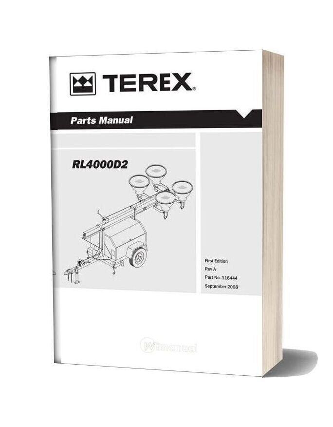 Terex Genie Rl4000 Parts Manual