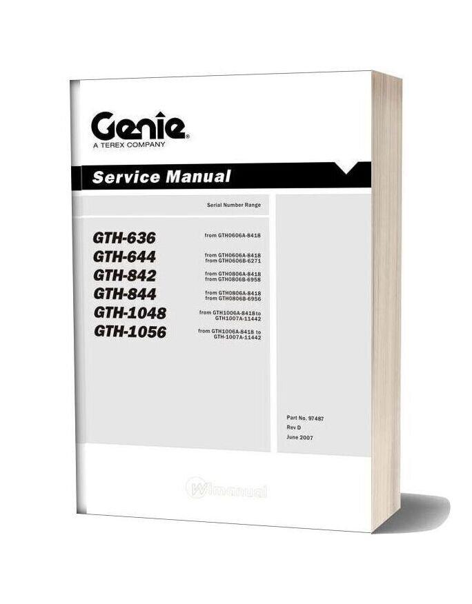 Terex Gth 636 Service Manual
