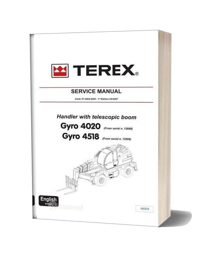 Terex Gyro 4518 Service Manual