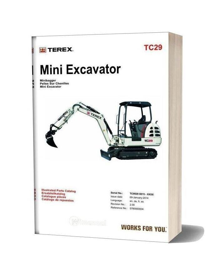 Terex Mini Excavator Tc29 Parts Manuals