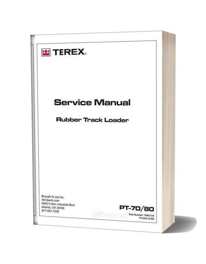 Terex Rubber Track Loader Pt70 80 Service Manual