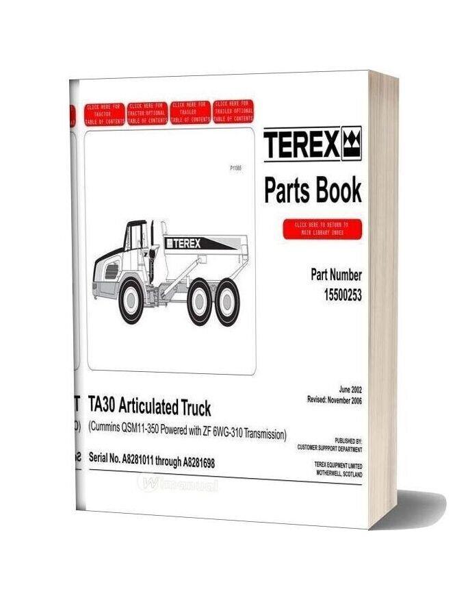 Terex Ta 30 Parts Book