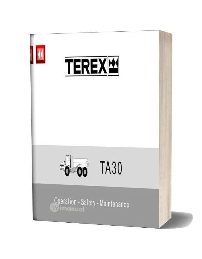 Terex Ta30 Operation Safety Maintenance