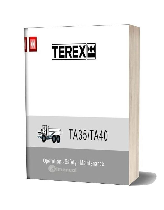Terex Ta35 Ta40 Operation Safety Maintenance